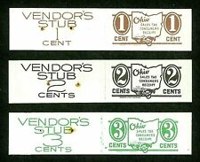 *OLD us stamp usa ohio state set vendor/consumer's tax revenue receipts