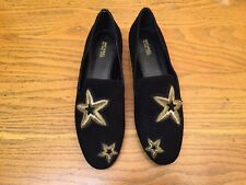 b022aa14856a MICHAEL KORS NATASHA SUEDE GOLD STAR EMBROIDERED FLAT SHOES NEW SIZE 6   120.00