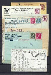 [LG16206] Belgium Nice lot Covers & Postal cards UNG