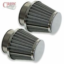 A PAIR OF UNIVERSAL AIR FILTERS IDEAL FOR A BSA A65 FIREBIRD CLASSIC MOTORCYCLE