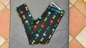 🌈 BNWOT ZUMBA WEAR Leggings Logo Fluorescent Z XL Black