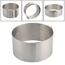 Edelstahl stufenlos verstellbar Tortenring Backform Rahmen mit Skala Ø 16-30 cm