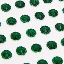 CraftbuddyUS 108pcs Self Adhesive Pointed Resin Glitter Gems: : Emerald Green