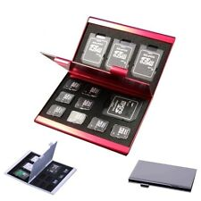 Memory Card Storage Box Aluminium Alloy Micro SD TF Protecter Case 8x SIM Card