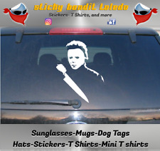 Halloween 2 Micheal Myers Horror 6 inch window vinyl decal sticker