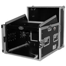 ProX T-8MRSS DJ Rack 8U Bottom x 10U Mixer Slanted Top Combo Flight Case