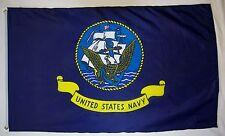 United States Navy Ship Emblem Flag 3' X 5' Indoor Outdoor Licensed Banner