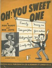 Oh! You Sweet One - JOHNNY DENIS - Sheet Music