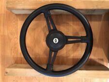 "1 x Moto-Lita 15"" dished steering wheel black Defender Land Rover 48 spline + bo"