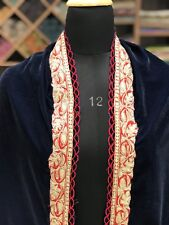 Blue Velvet Shawl, Women Scarves, Zari Embroidered, Kashmir Embroidery Shawls