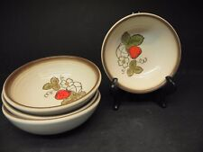 Metlox Poppytrail California Strawberry Hand Painted 4 Cereal Bowls