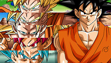 Poster 42x24 cm Dragon Ball Goku Saiyan 04