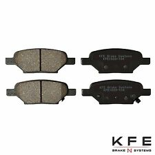 Premium Ceramic Disc Brake Pad REAR New Set + Shims Fits Chevrolet KFE1033