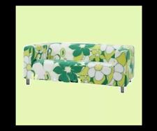 IKEA Klippan Green VIMLE Tropical MOD Floral Lime Flower Loveseat Sofa Cover NEW