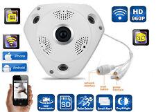 TELECAMERA IP CAMERA HD VR CAM PANORAMICA 360 GRADI SENSORE MOVIMENTO 1.3MP WIFI