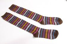 Cute Girly Casual Colourful Cotton Knee - High Brown Socks 5.5KID SIZE (S284)