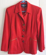 Womens Vintage RALPH LAUREN Red Wool Blazer Jacket - Size 4