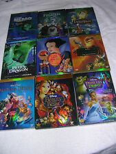 Lot of 10 Disney DVDs:Beauty and the Beast,Snow White,Brave,Aladdin,Bambi, etc .