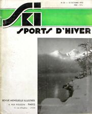 Ski Sports d'Hiver n°33 - 1935 -  Puymorens - Cortina d'Ampezzo - Italie