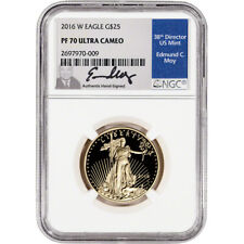 2016-W American Gold Eagle Proof 1/2 oz $25 - NGC PF70 UCAM Moy Signed