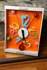 Verichron Multi Color Wall Clock w/ Box Works Balls Numbers Retro Design 2006