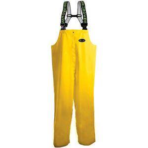 Grundens Men's Petrus 116 Adjustable Suspenders Fishing Bib Pants Yellow 2XL