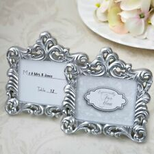 """BAROQUE PEARL SILVER FRAME 2"""" x 3"""" PLACE CARD PHOTO HOLDER"""