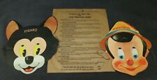 Disney 1939 Pinocchio Gillette Razor Blades Masks Set of 2 Premium Figaro