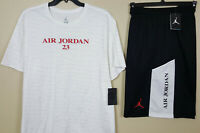 NIKE AIR JORDAN RETRO 10 OUTFIT SHIRT + SHORTS WHITE RED BLACK NEW SIZE 3XL 4XL