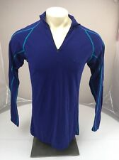 Vtg Asics Purple teal stripe long sleeve atheltic running workout shirt XL USA