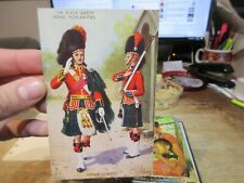 Other Old Postcard Royal Highlanders Black Watch Scotland Officer Sentry Patrol