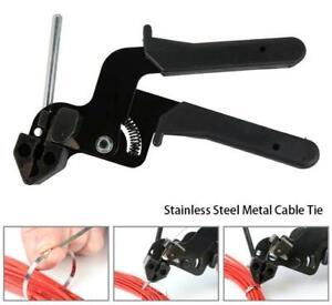Stainless Steel Metal Cable Tie Fasten Gun Pliers Crimper Tensioner Cutter Tools