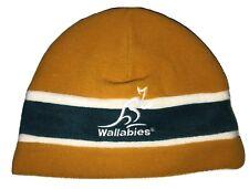 Canterbury of New Zealand Yellow Fleece Hat Cap NZ Australia Wallabies Mens  OS e2babfe1b62c