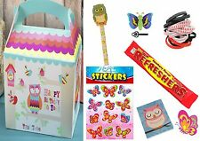 Girls Owl Deluxe Pre Filled Party Box / Bag