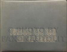 1973 Plymouth Data Book Dealer Album Fury Satellite Barracuda Valiant Etc Facts