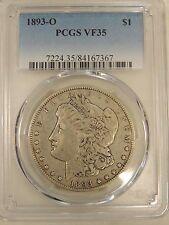 1893-O $1 Morgan Silver Dollar PCGS   VF 35 #7367
