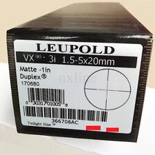 Leupold VX-III Short Rifle Scope 1.5-5x 20 Reticle Mil Dot Matte HD Glass Bright