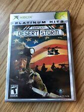 Conflict: Desert Storm (Microsoft Xbox, 2002) Cib Game H3