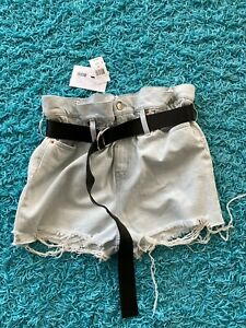 IRO High Waist Paperbag Denim Short Andel Size 28 MSRP $355 NWT