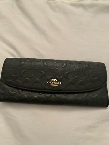 coach black Signature purse