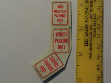 1/24 Scale Surfer Parking Sign Decals