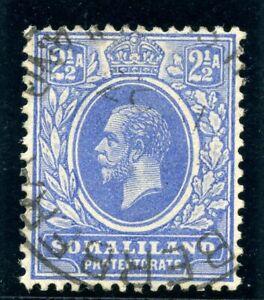 Somaliland 1921 KGV 2½a bright blue very fine used. SG 76. Sc 67.