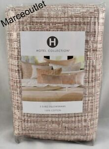 Hotel Collection Woodrose EURO Embroidered Pillowshams Pink