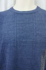 Tricots St Raphael Sweater Sz M Marine Blue Knit Crew Neck Casual Pullover