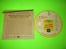 Vintage Bethlehem Steel Rotary Drilling Line Ton Mile Calculator Computer