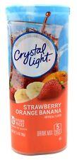24 12-Quart Canisters Crystal Light Strawberry Orange Banana Drink Mix