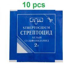 Streptocidum 2 gr x 10pcs - antibacterial,Infected wounds,burns,furuncles,acne