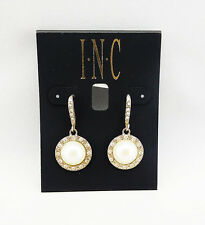 INC International Concepts Round Stone Drop Earrings Msrp $22.50 *NWT*
