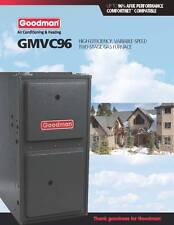 Goodman 96% Two Stage Variable Speed 80K BTU Gas Furnace 4 Ton GMVC960804CN