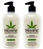 2 Hempz Herbal Original Moisturizer & After Tan Tanning Lotion 17 oz